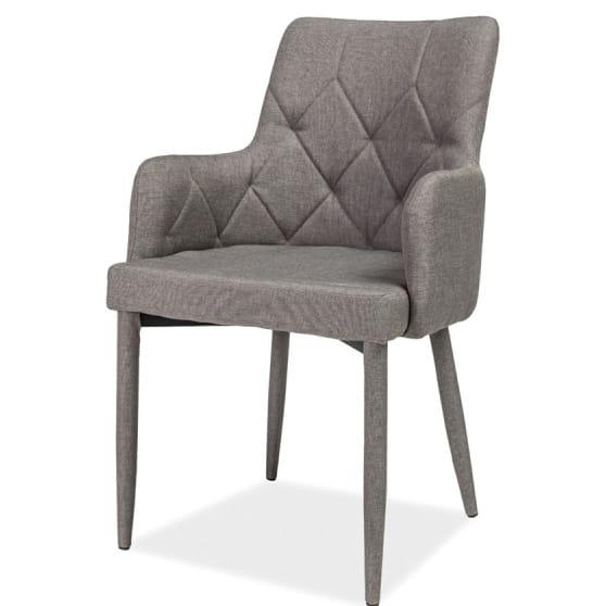 Krzesło Ricardo Szare Krzesła Z Podłokietnikami Meble Online